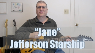 """""""Jane"""" by Jefferson Starship Guitar Lesson (with TAB)"""