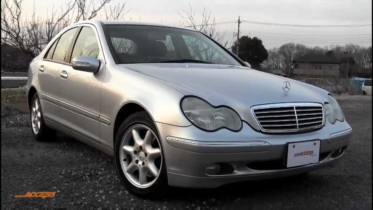 2001 mercedes benz c240 56k leather for sale direct from japan youtube