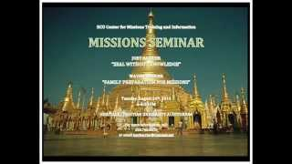 Missions Seminar #1 part 1  Zeal without knowledge  Joey Barrier