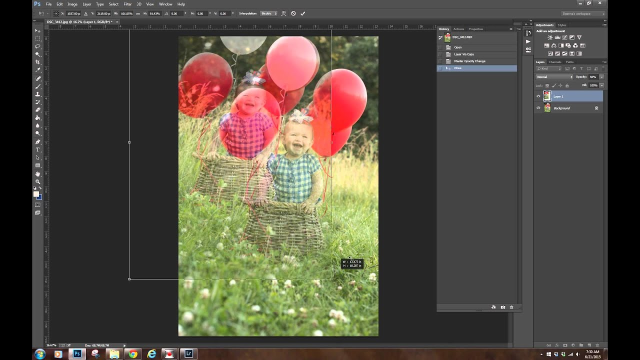 How to open a raw file, save as JPG, and composite an image using layers