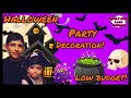 HALLOWEEN PARTY DECORATION ON A LOW BUDGET! | FUNNY KIDS |