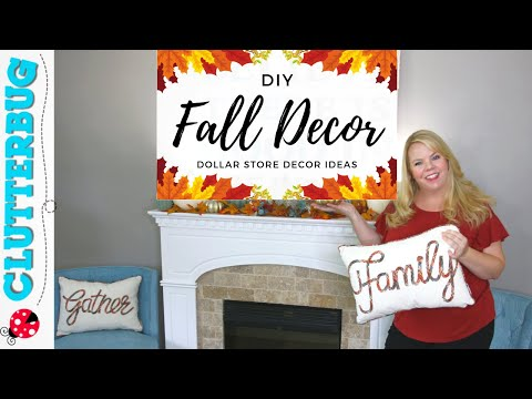 DIY Fall Decor Ideas 2019 - Dollar Store Autumn Decor