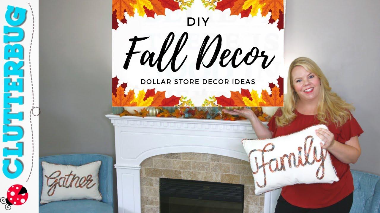 Diy Fall Decor Ideas 2019 Dollar Store Autumn Decor