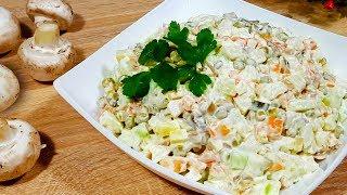 Постный ОЛИВЬЕ на Праздничный стол Рецепт любимого салата Постное меню от Кулинарная Минутка ТВ