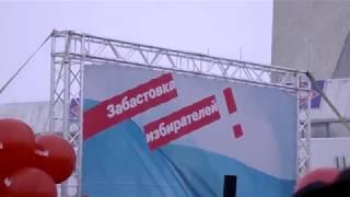"""Акция """"Забастовка избирателей"""" в Омске 28 января 2018"""