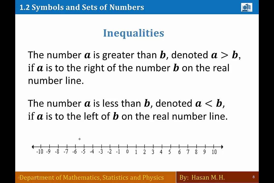 Math 103 Section 12 Symbols And Sets Of Numbers Part 2 Youtube