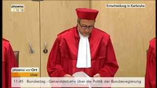 BVerfG - ESM geht durch - Karlsruhe hat keine substanziellen Bedenken PHOENIX 2012