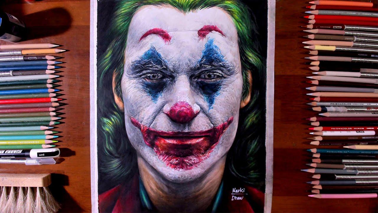 Drawing Joker 2019 Joaquin Phoenix Marki Draws Colored Pencil Youtube