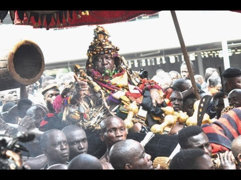 DAY 4 Otumfour Osei Tutu II, Asanatehene sits in his Palanquin to Display Ashanti Culture