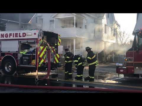 Fire On Dickinson Street In Springfield, Massachusetts
