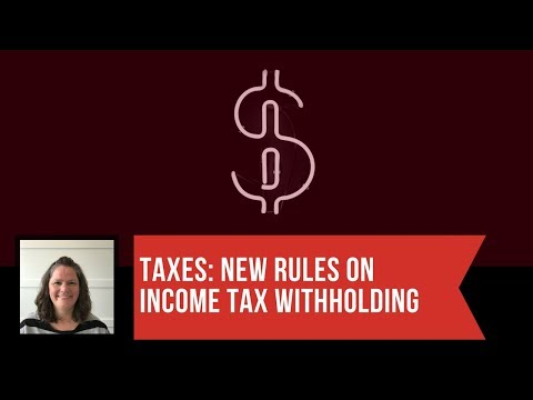 TAES: new changes to withholding based on rates