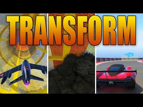 Grand Theft Auto 5 Online - TRANSFORM RACES! (Plane ➡️ Car)
