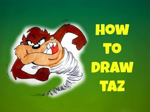 How to draw taz looney tunes youtube