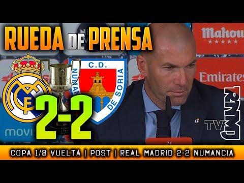 Real Madrid 2-2 Numancia Rueda de prensa post (10/01/2018) | Copa del Rey 1/8 Vuelta