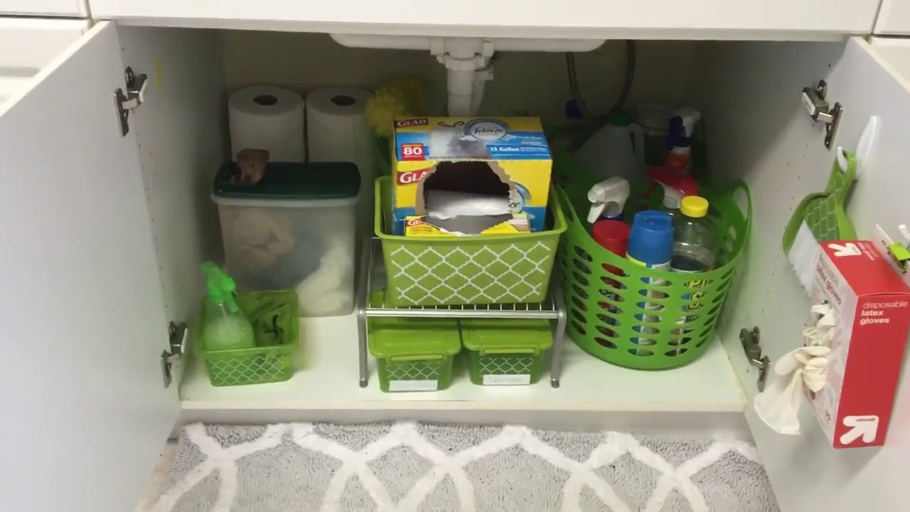 Under Kitchen Sink Organizer Stainless Steel Islands Dollar Tree The Organization Youtube Premium