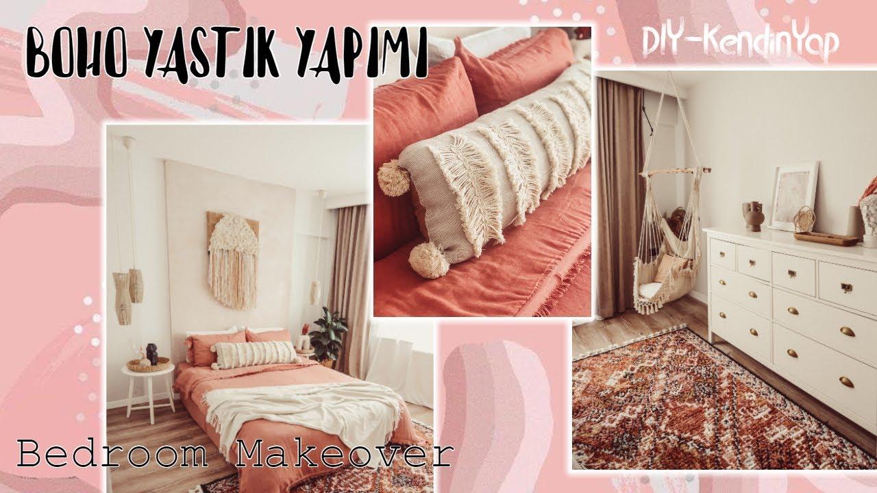 BOHO YASTIK YAPIMI - Sonbahar - Kış Yatak Odası Dekorasyonu / DIY / KENDİNYAP - Ersin Dogan Home