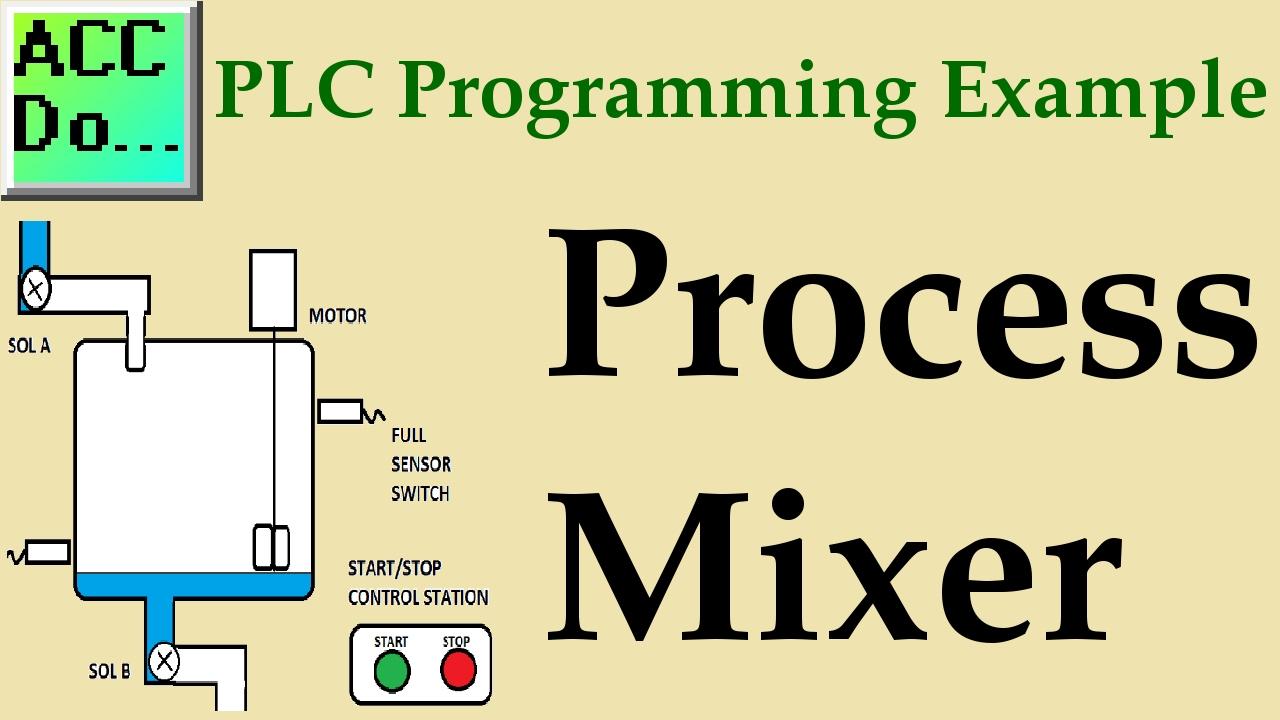 plc programming example process mixer youtube