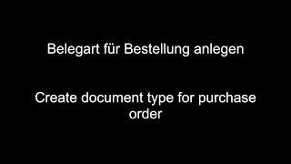 Sipariş için SAP MM - Oluşturmak belge türü