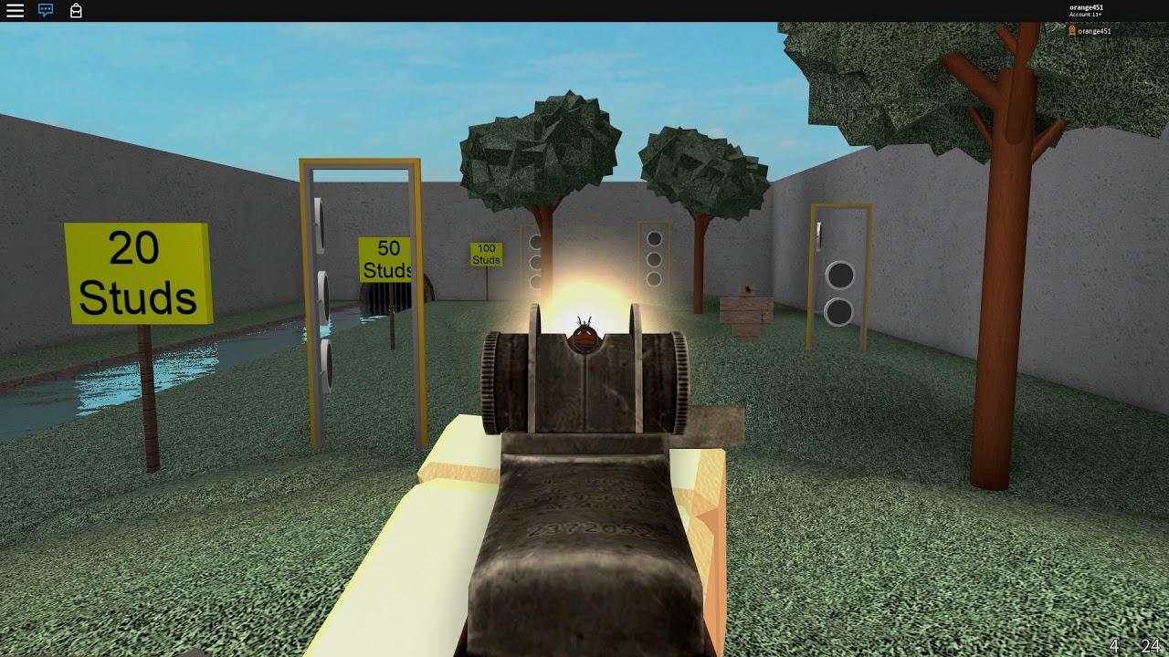 Roblox Wwii Gun Testing Youtube