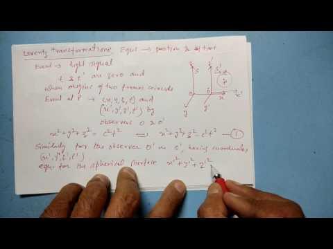 Lorentz Transformation Equations:Theory of Relativity (Part-I)