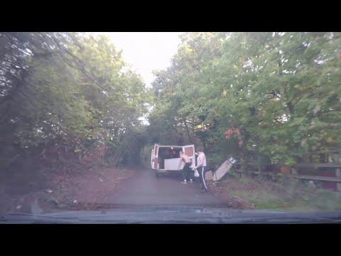 Travelers Caught Dumping a Fridge