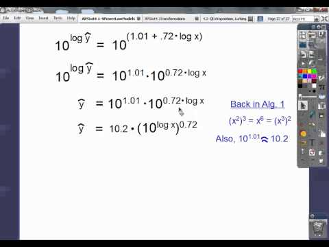 Power Law Models with Transformations - Section 4.1-4