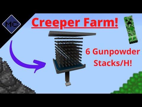 minecraft-bedrock:-creeper-farm-tutorial!