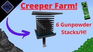 Minecraft Bedrock: Creeper Farm Tutorial!