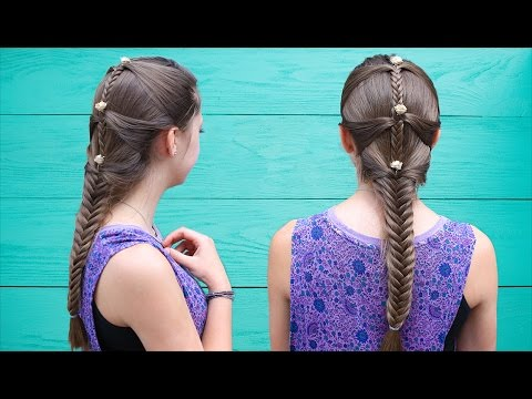 Fishtail Mermaid Braid Hair Tutorial ft. Brooklyn & Kamri | Cute Girls Hairstyles