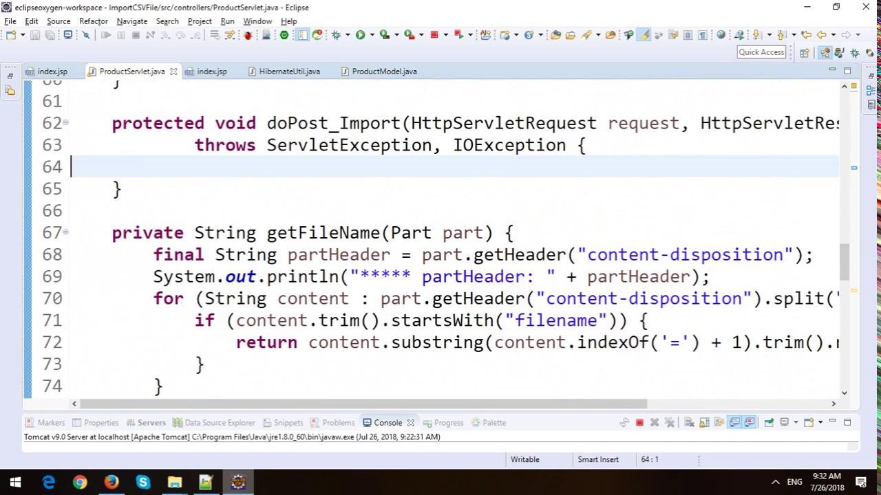 Import CSV File in JSP-Servlet and Hibernate