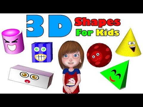 3D Shapes for Kids  Educational Shapes Song to Help Children Learn 3D Shapes, Noodle Kidz S01E01