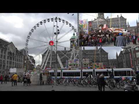 travelling funfair Amsterdam Dam Square 2017