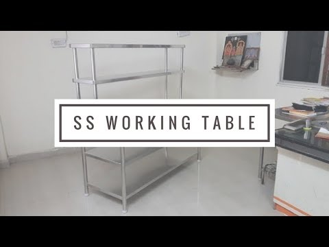 Stainless Steel Kitchen Working Table - Call- 9643697434 Commercial Kitchen Equipment Manufacturers