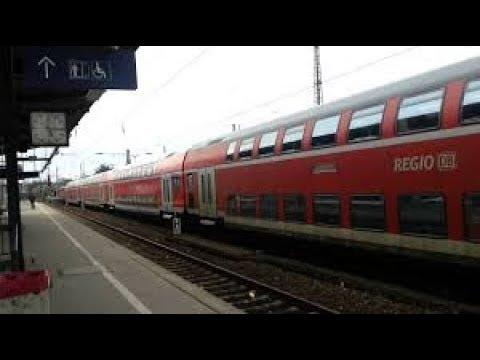 2-х этажные поезда в Германии. - YouTube
