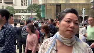 港人再次在中環進行「和你lunch」抗爭 聲援理工大被困學生