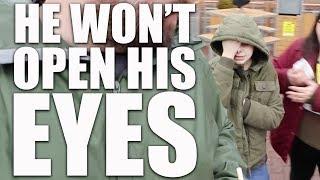 He won't open his eyes & massive PO Box opening | Autism vlog