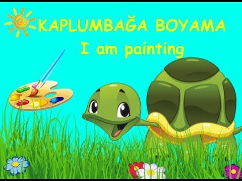 Kaplumbağa Boyama Turtle Coloring çocuklar Için Süper Renkli