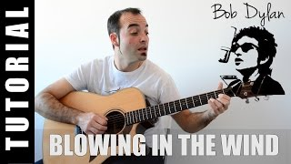 Blowin' in the wind - Bob Dylan TUTO + Cover con Letra y Acordes FÁCIL