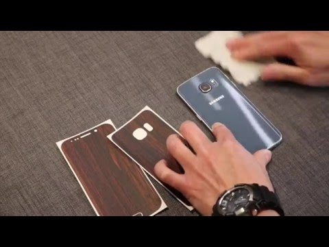 Dbrand mahogany skin for Samsung Galaxy s6 edge 'how to apply'