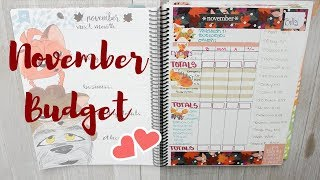 November 2018 Budget Setup | DIY Deluxe Monthly Sticker Kit | EC Deluxe Monthly Planners