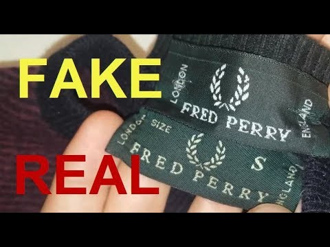 Real Vs. Fake Fred Perry Sweater. How To Spot Fake Fred Perry