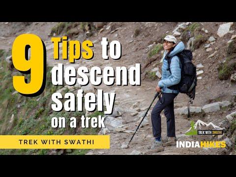 9 Tips To Descend Safely On A Trek