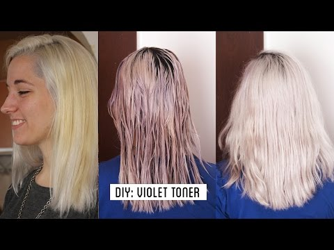 video how to white hair grey hair make your own violet toner at home tutorial