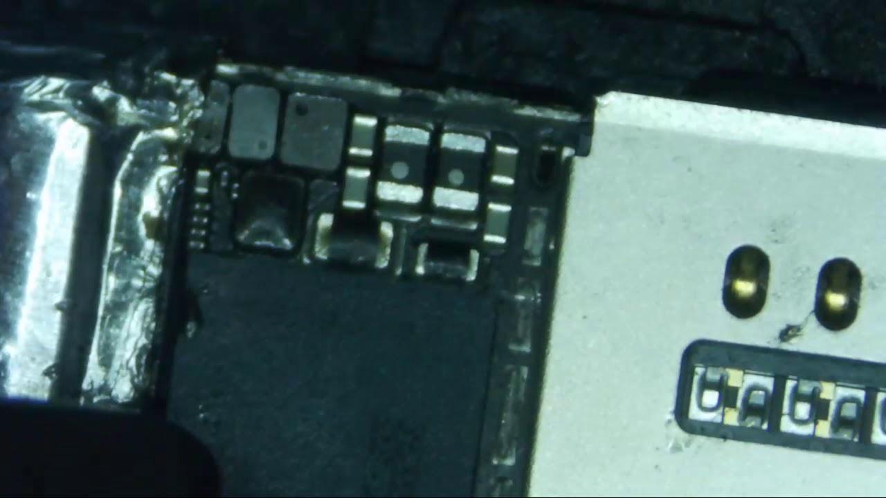 iPhone 7 Plus Intel sin imei, reballing modem 2 jumpers