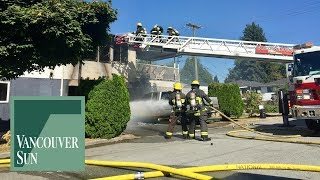 Fire crews attend two-alarm blaze in East Vancouver