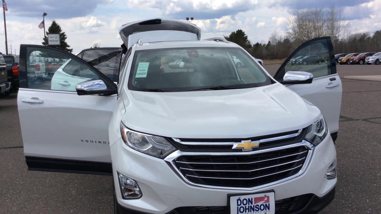 2018 Chevrolet Equinox Premium Awd Pearl H18004 Youtube