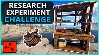 THE EXPERIMENT ONLY RESEARCH CHALLENGE!! Rust Solo Survival Gameplay PART 1