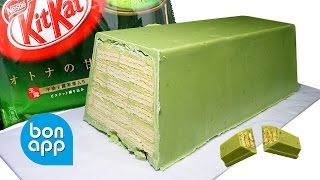 Гигантский КитКат с зеленым чаем  Mega KitKat green tea