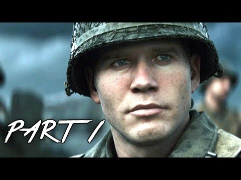 CALL OF DUTY WW2 Walkthrough Gameplay Part 1 - Normandy - Campaign Mission 1 (COD World War 2)