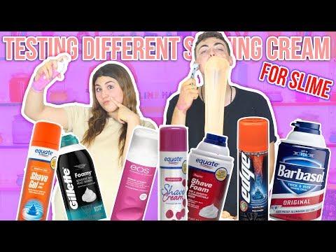 TESTING DIFFERENT SHAVING CREAMS FOR SLIME | BOY OR GIRL SHAVING CREAM | Slimeatory #66